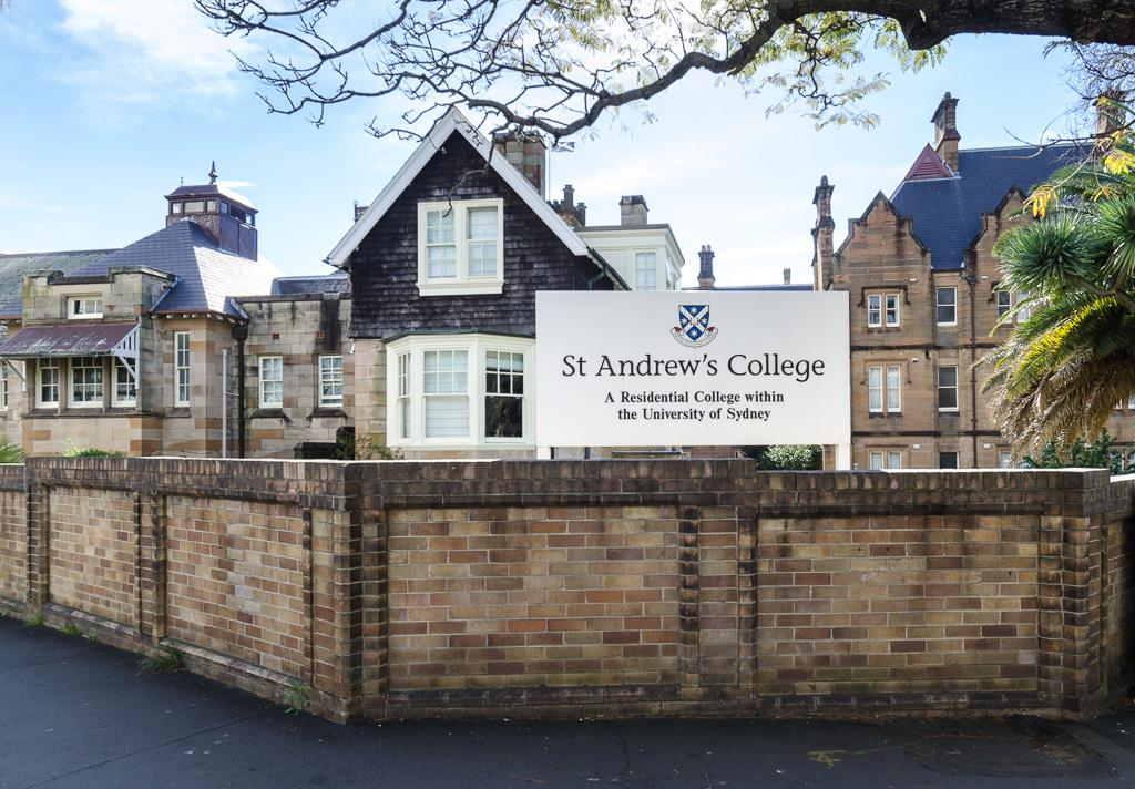 St Andrew's College Main Building as seen from the corner of Missenden Road and Carillon Avenue, Camperdown.