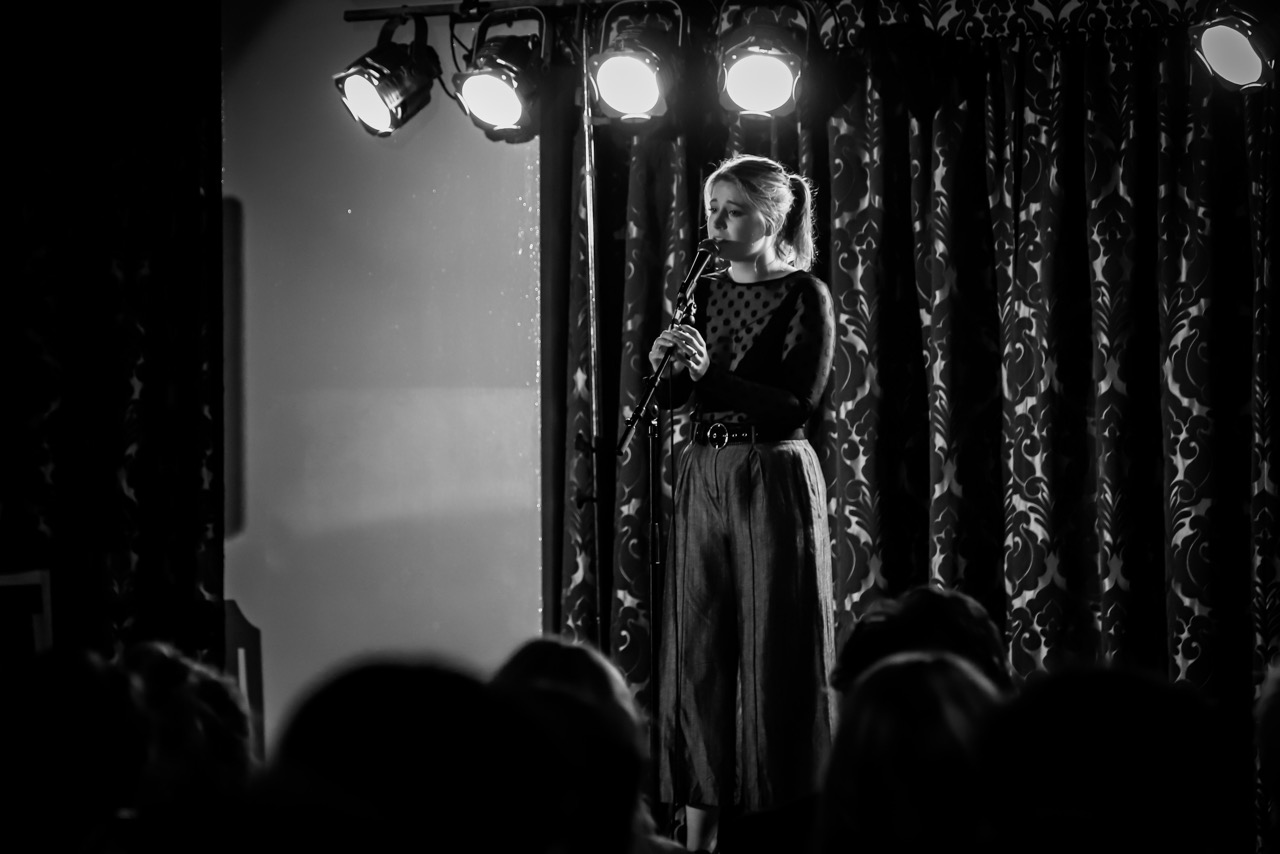 St Andrew's College resident performing in the Palladian Solo Vocal competition, an annual intercollegiate event.