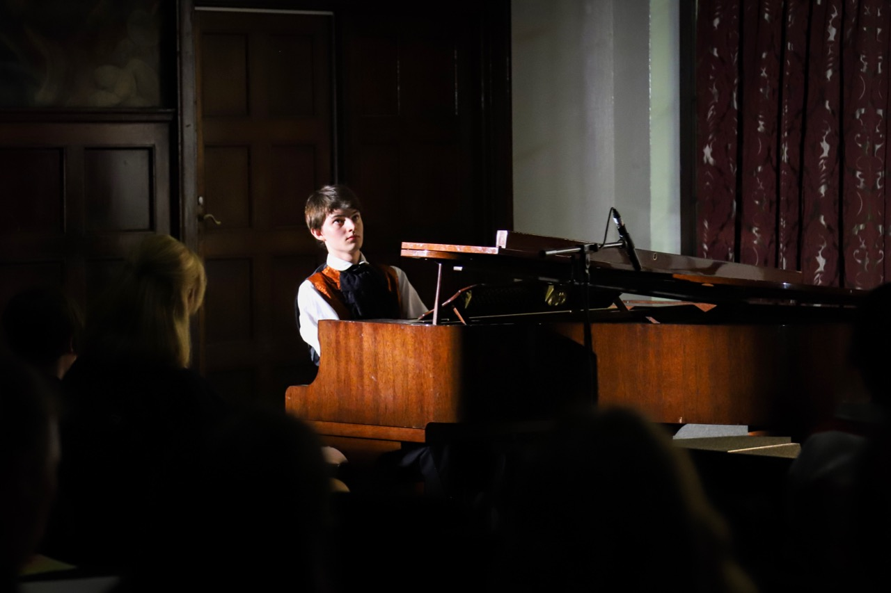 St Andrew's resident playing the piano at one of the many College music recitals held annually in our Chapel.